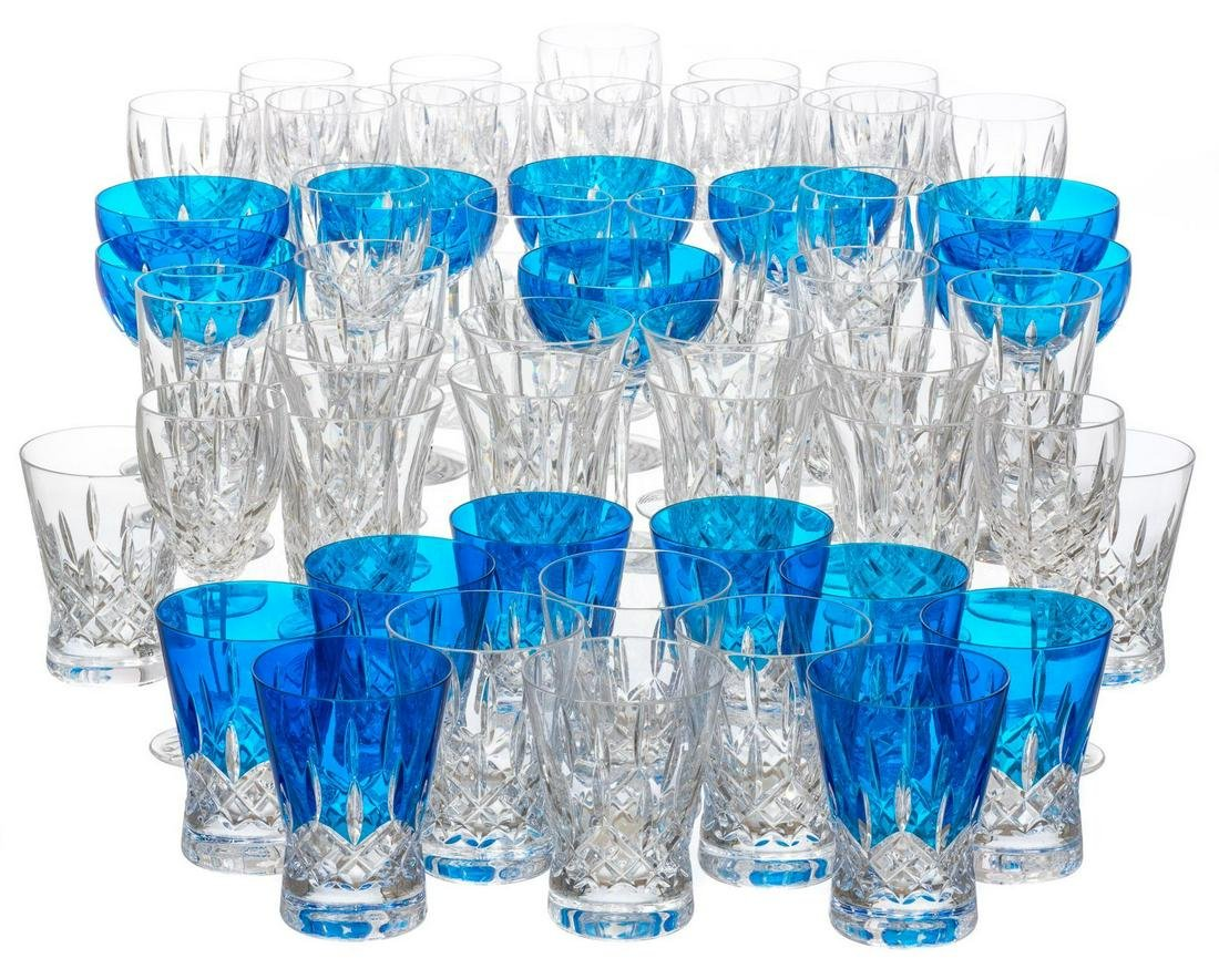 Lismore by Waterford 64 Piece Crystal Stemware