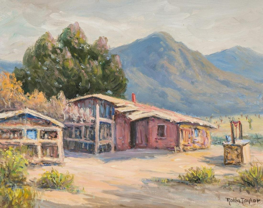 "Rolla Taylor (1872-1970), ""Franklin Mountain"", oil"