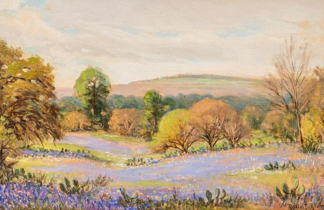 "Rolla Taylor (1872-1970), ""Spring Time"", 1944, oil"