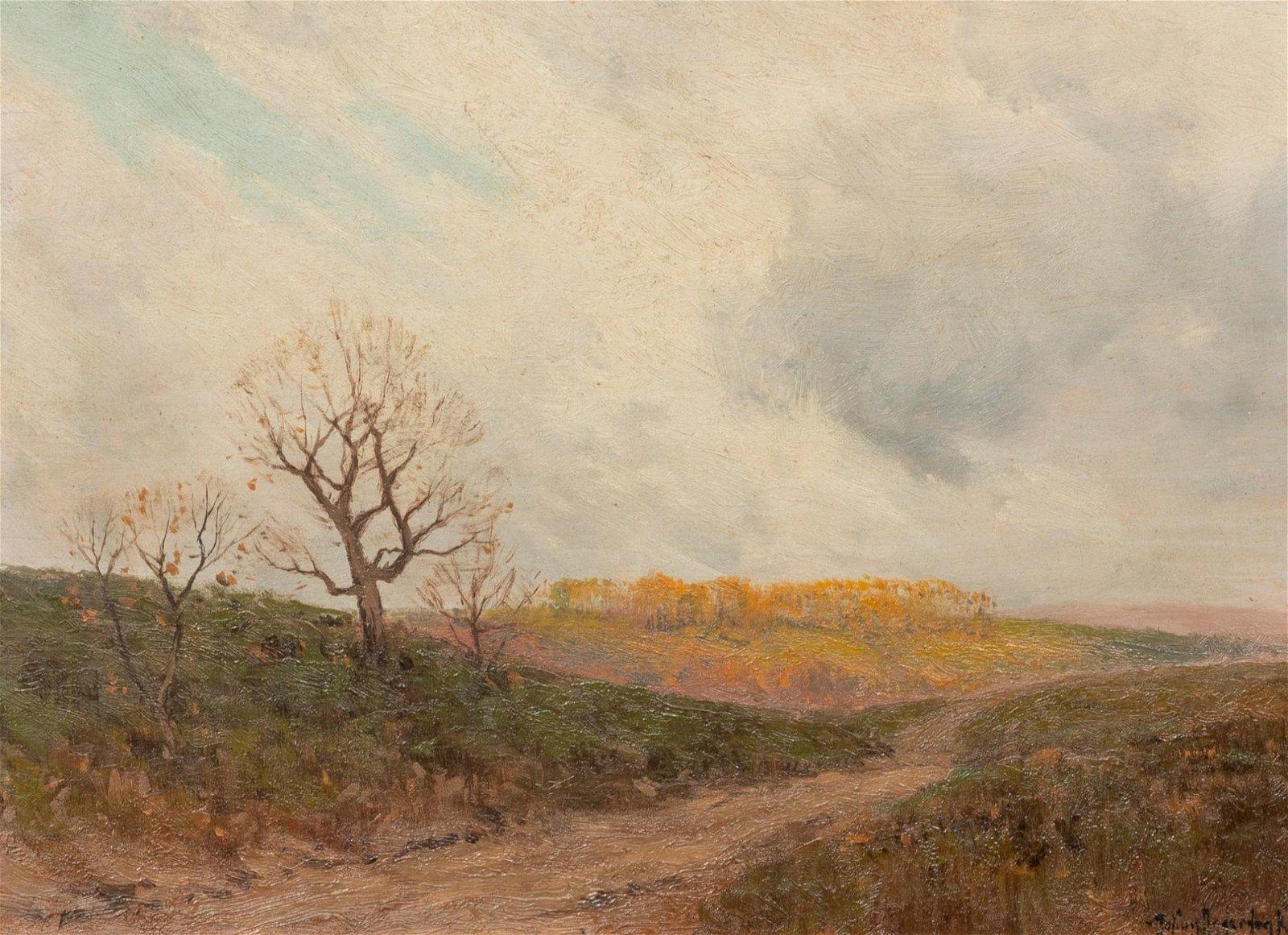 """Julian Onderdonk (1882-1922), """"The Road..."""", 1909, oil"""
