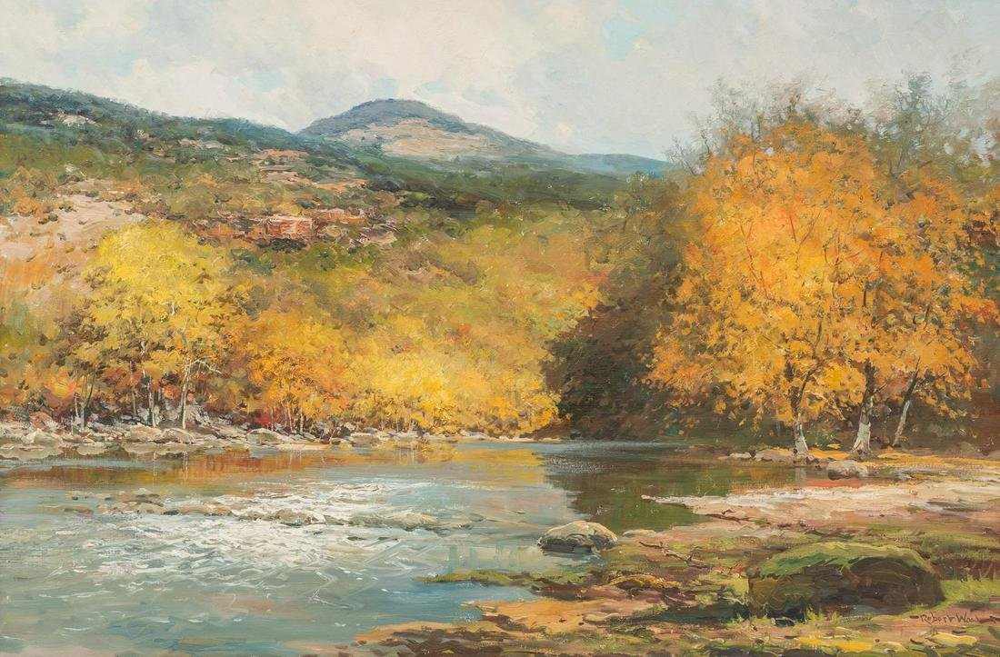 Robert Wood (1889-1979), Hill Country River, oil