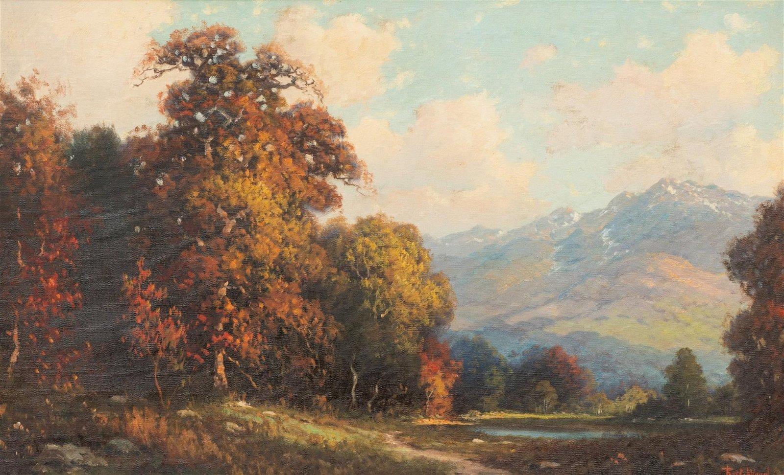 Robert Wood (1889-1979), Autumn Landscape, oil