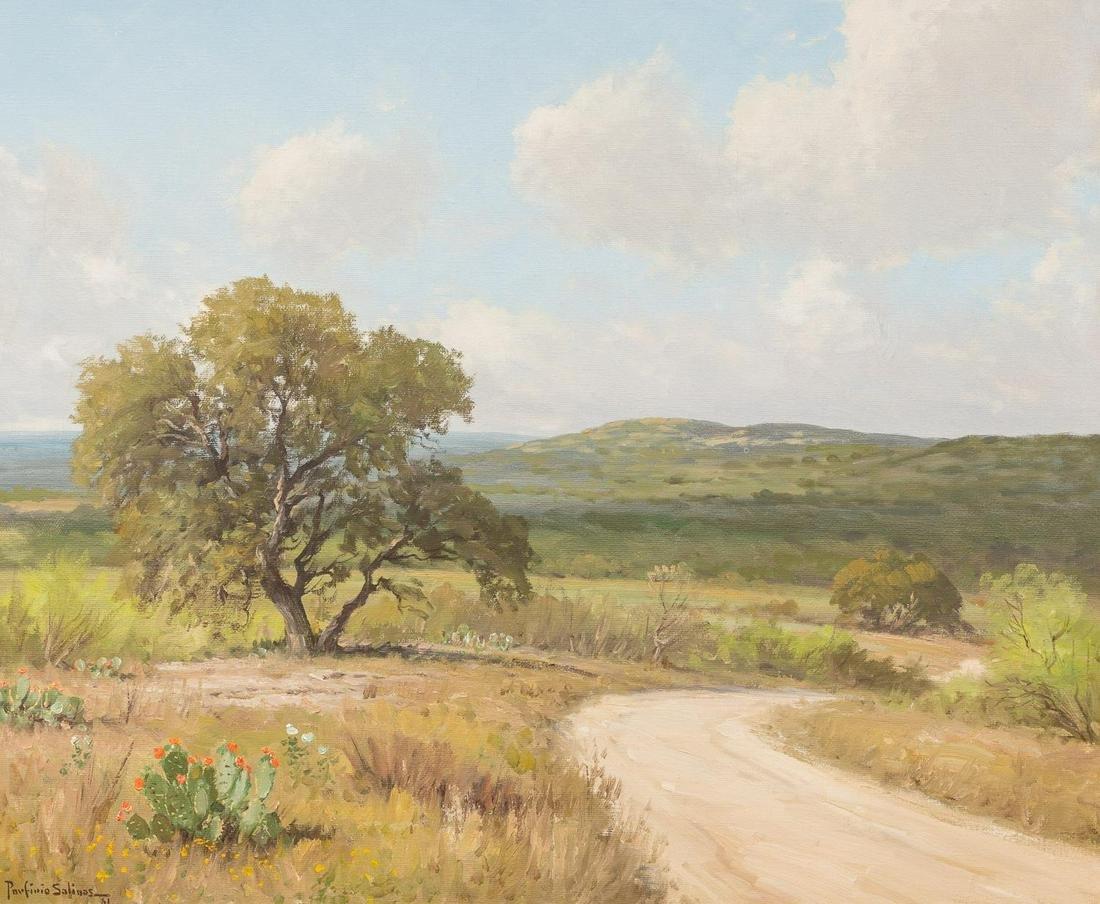 Porfirio Salinas (1910-1973), Cactus Road, 1961, oil