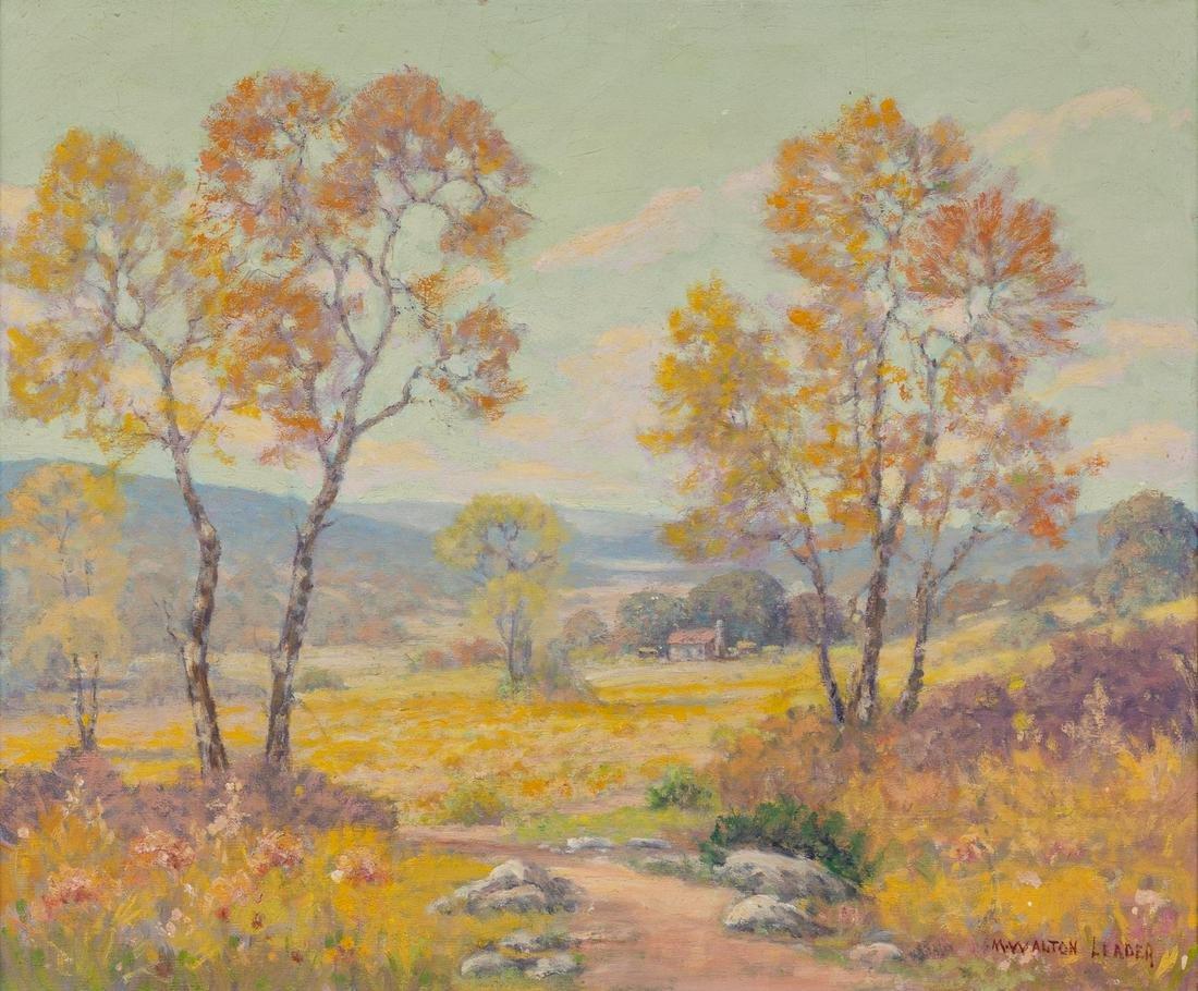 "Morris Walton Leader (1877-1966), ""Valley House"", oil"