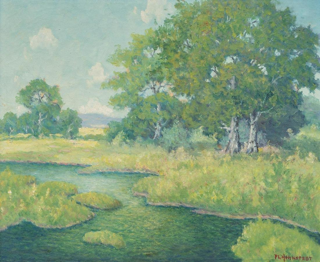 Peter Hohnstedt(1871-1957), River Landscape, oil