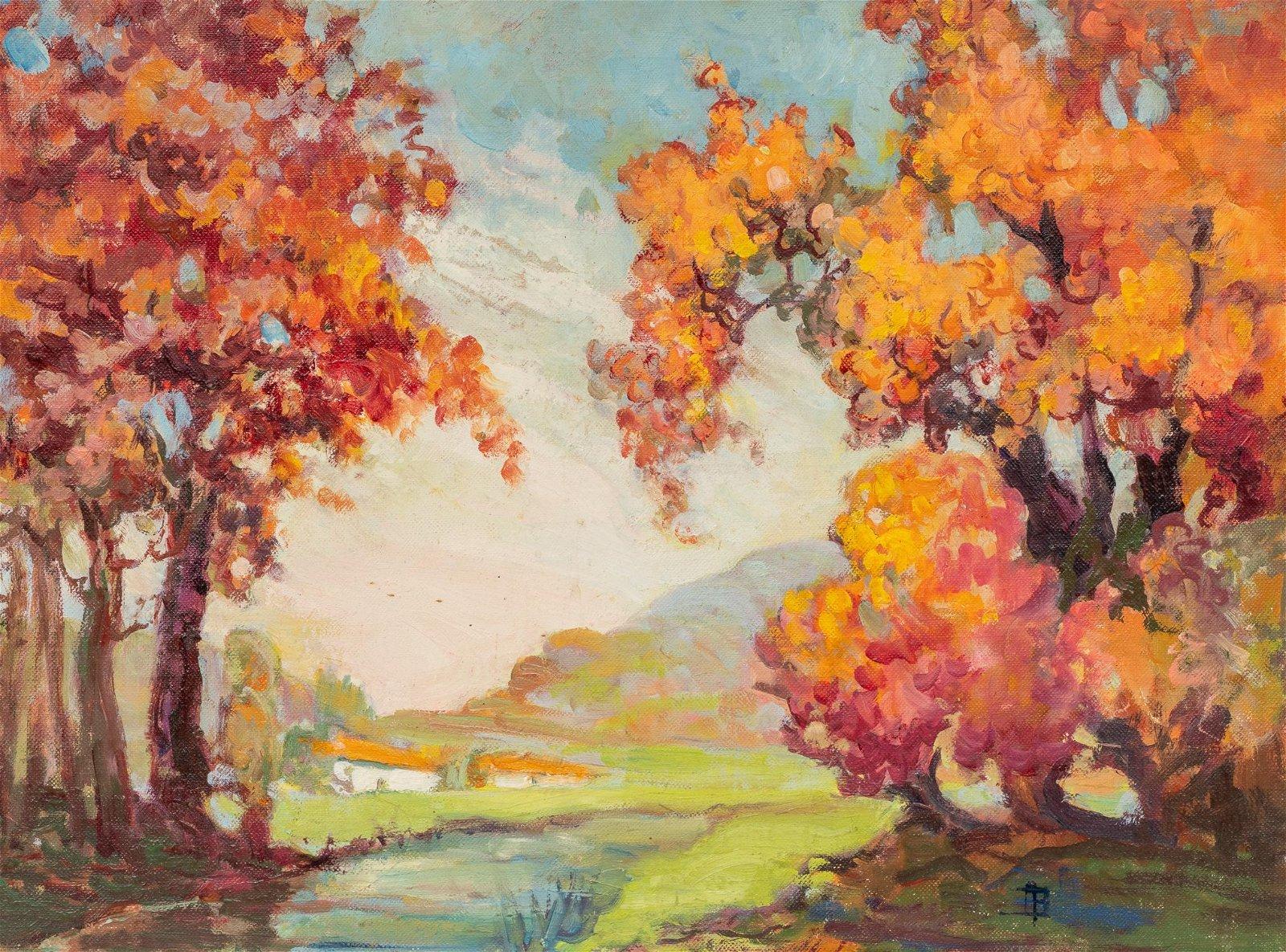 Adele Brunet (1871-1963), Autumn Landscape, oil