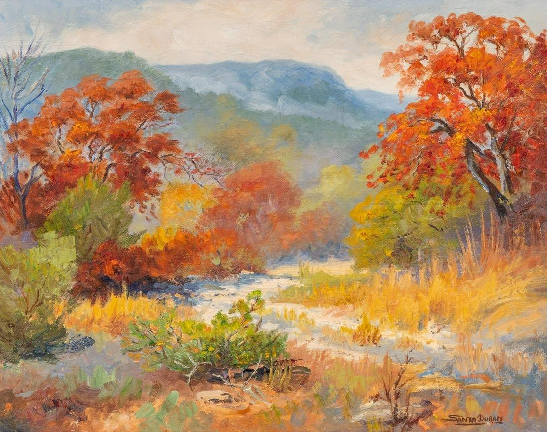 """Santa Duran (1909-2002), """"Autumn-Nature"""