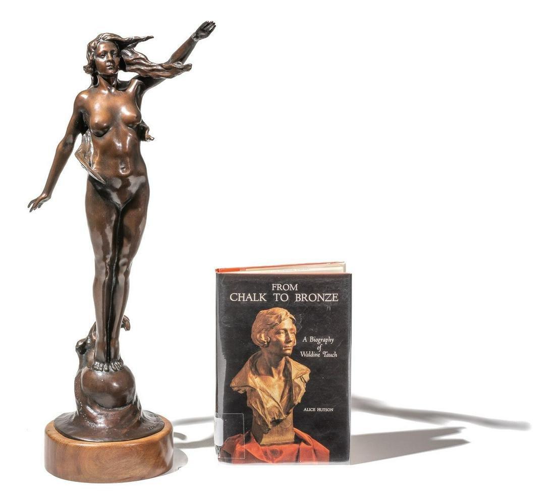 """WaldineTauch (1892-1986), """"Gulf Breeze"""", 1985, bronze"""