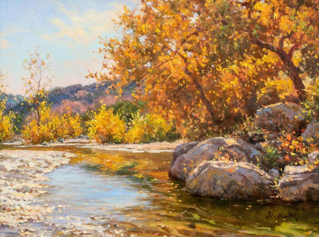 "Mark Haworth (b. 1952), ""Allure of Autumn"", oil"