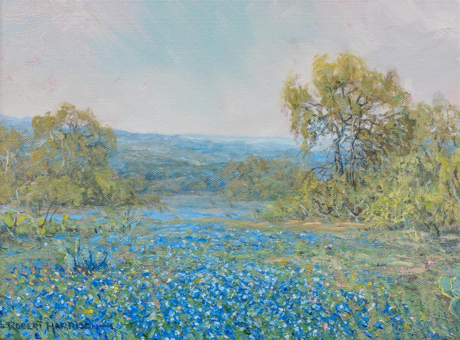 "Robert Harrison (b. 1949), ""Mid Day Blooms"", oil"