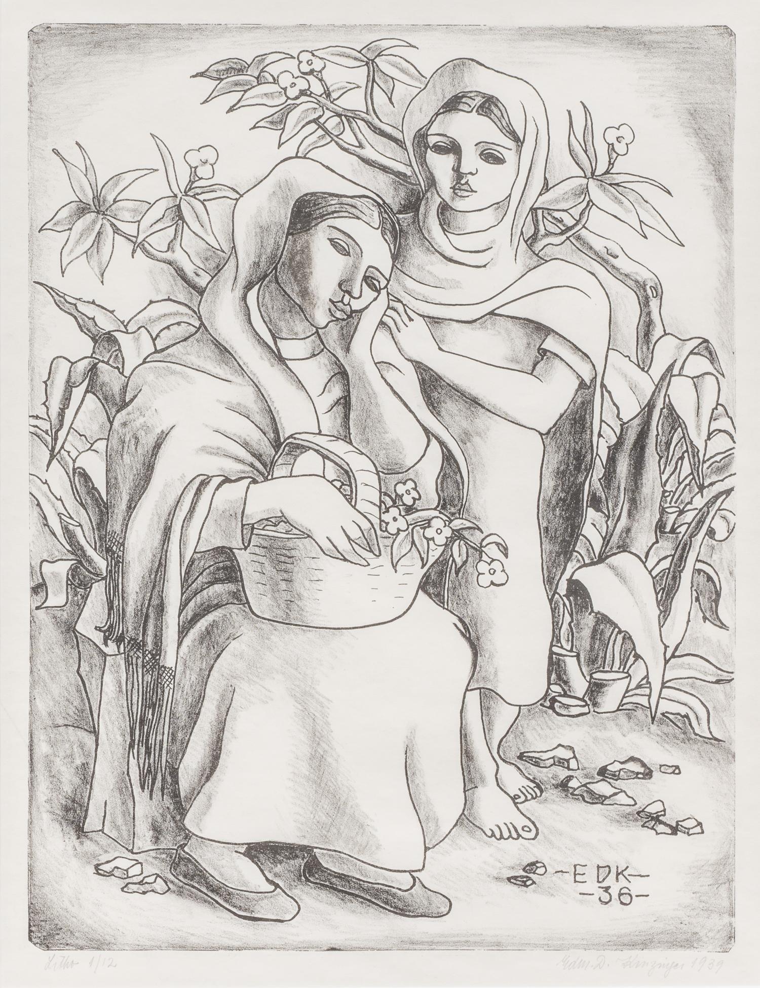 "Edmund Kinzinger(1888-1963), ""Taxco Women"", 1939,"
