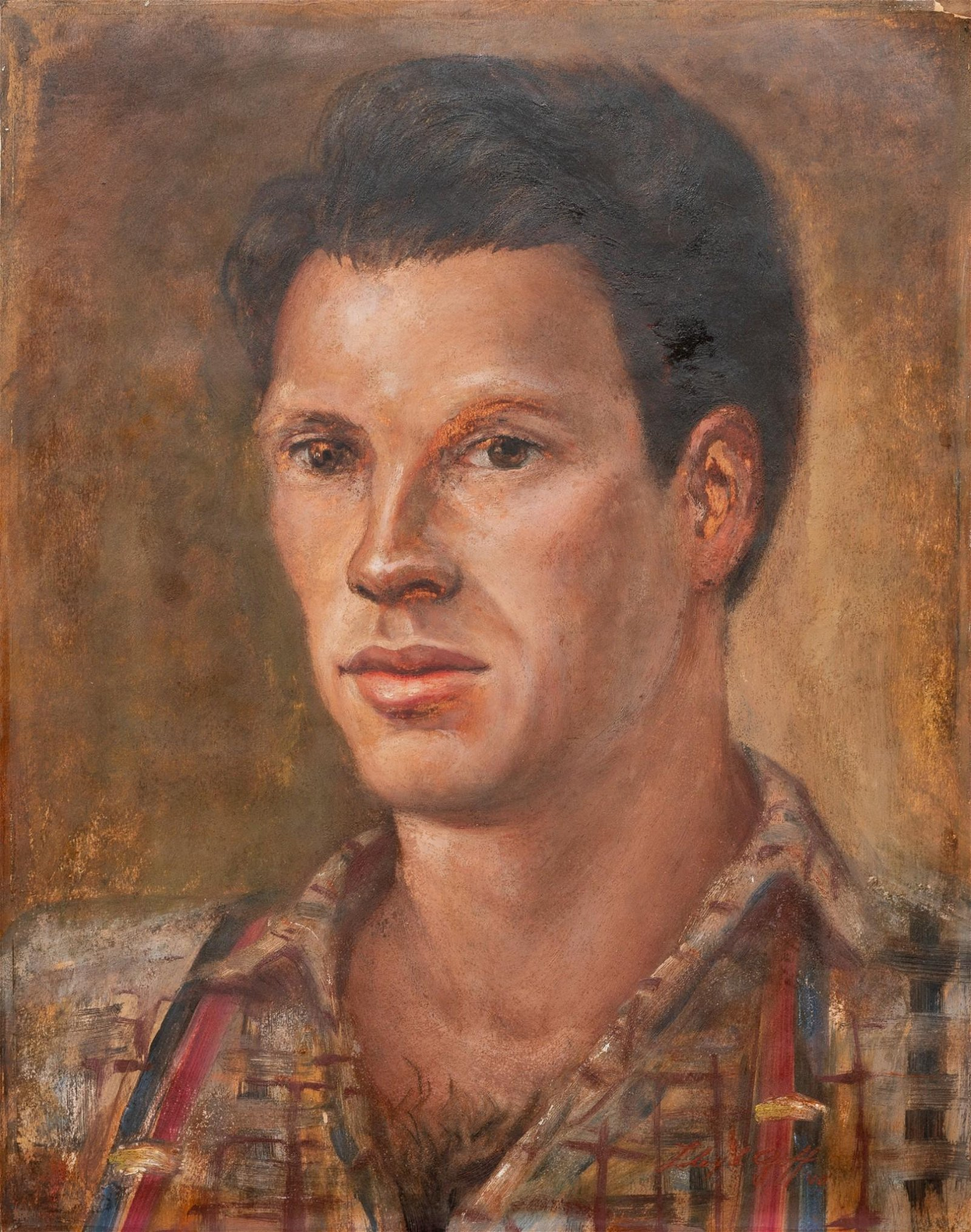 "Lloyd Goff (1908-1982), ""Portrait of Dimitri"", 1940"