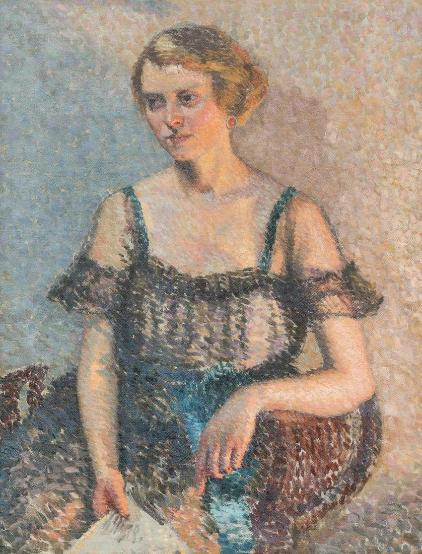 Howard A. Thain (1891-1959), Portrait of a Lady, oil