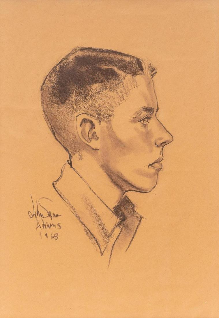 John Squire Adams (1912-1992), Portrait, 1968,