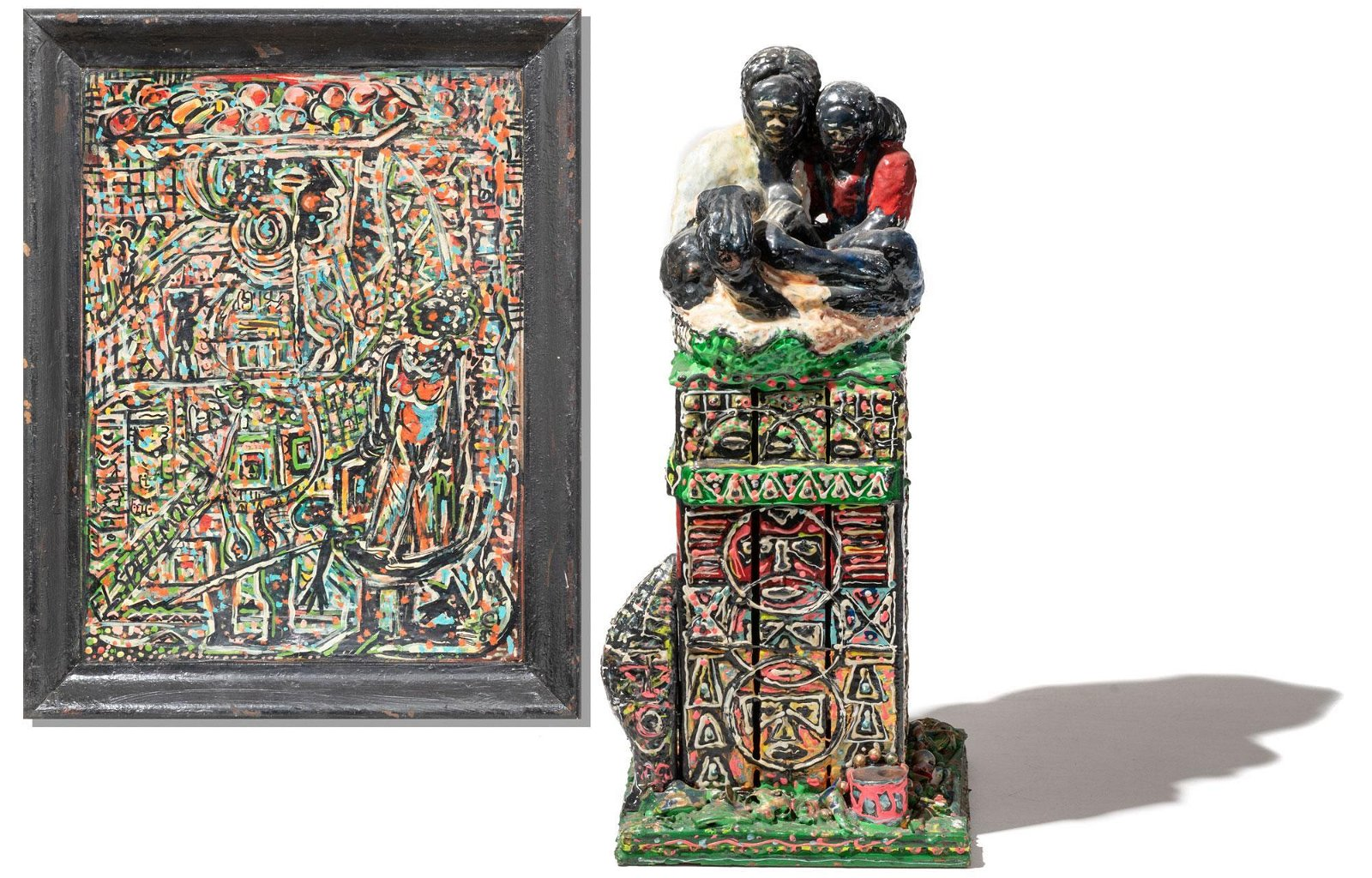 Doc Spellmon, Pair of Works: Painting and Sculpture