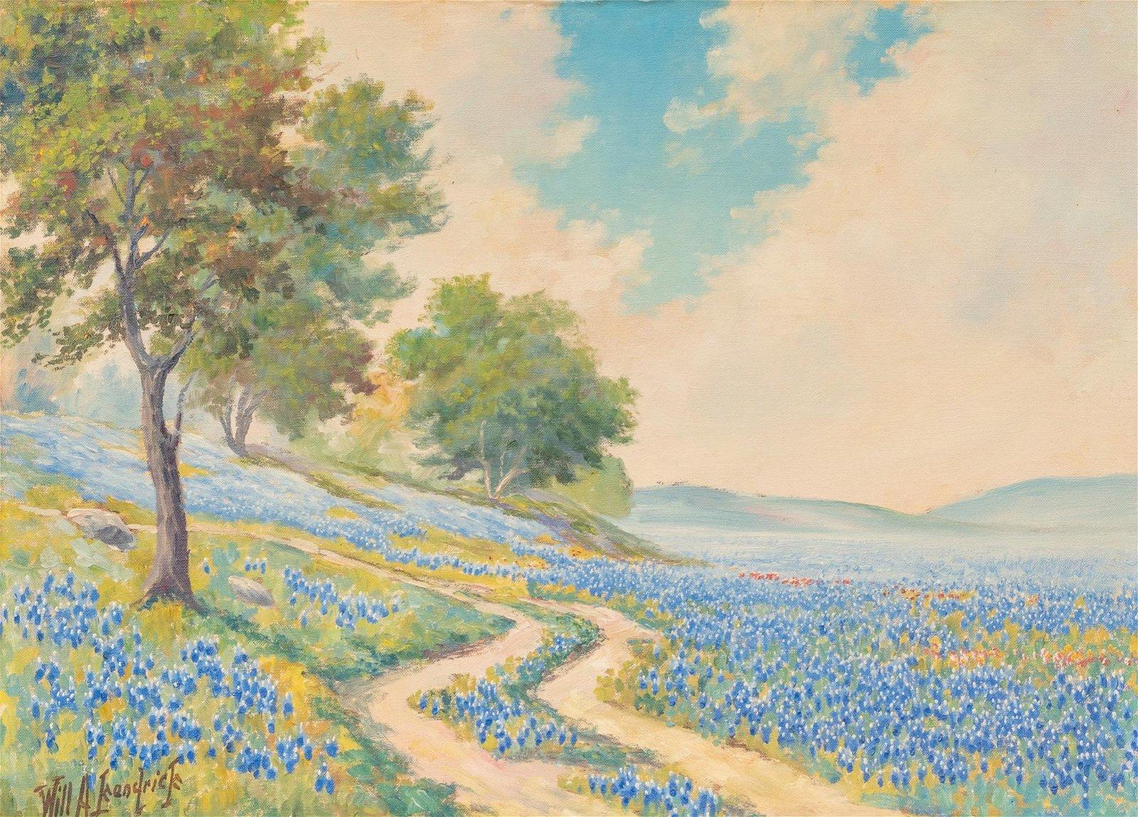 Will Kendrick (1889-1969), Bluebonnets, oil