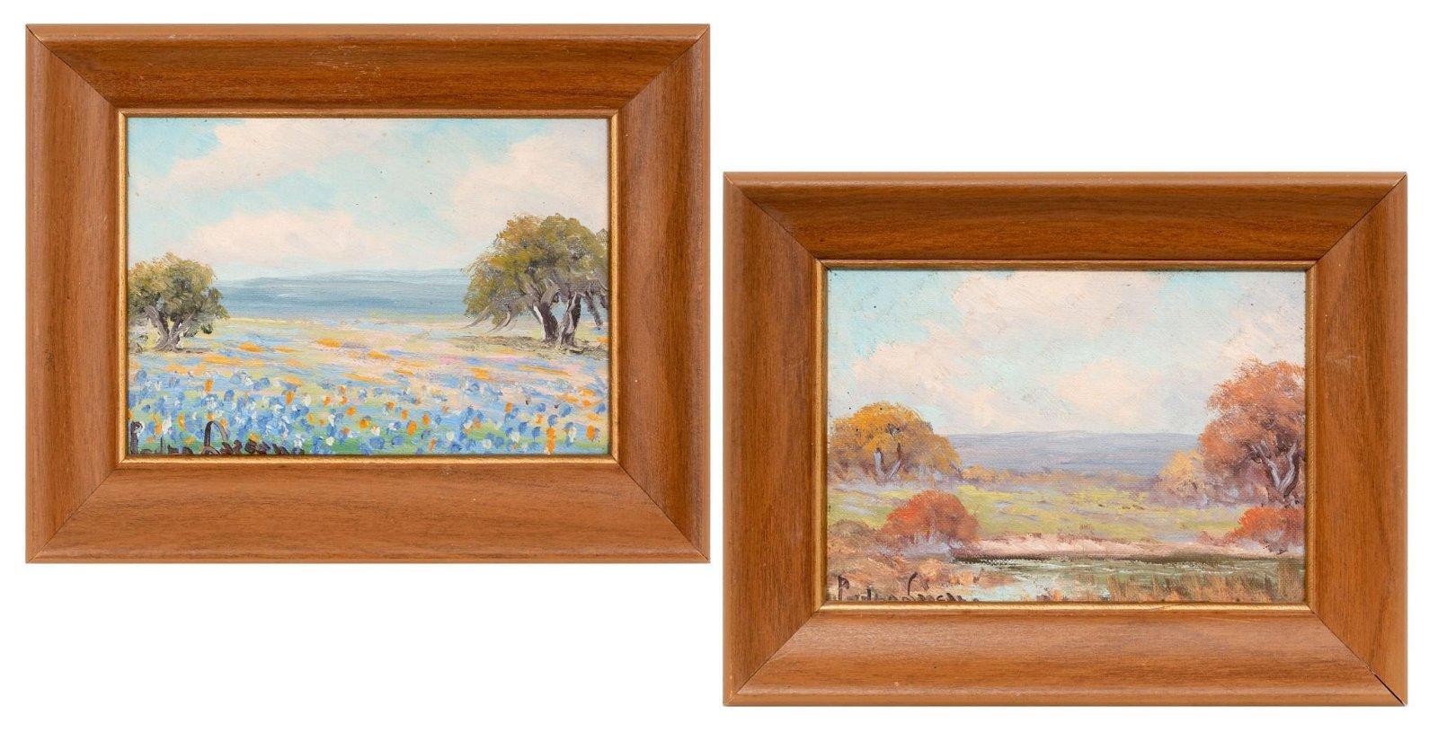 Pedro Lazcano (1909-1973), Pair of Paintings
