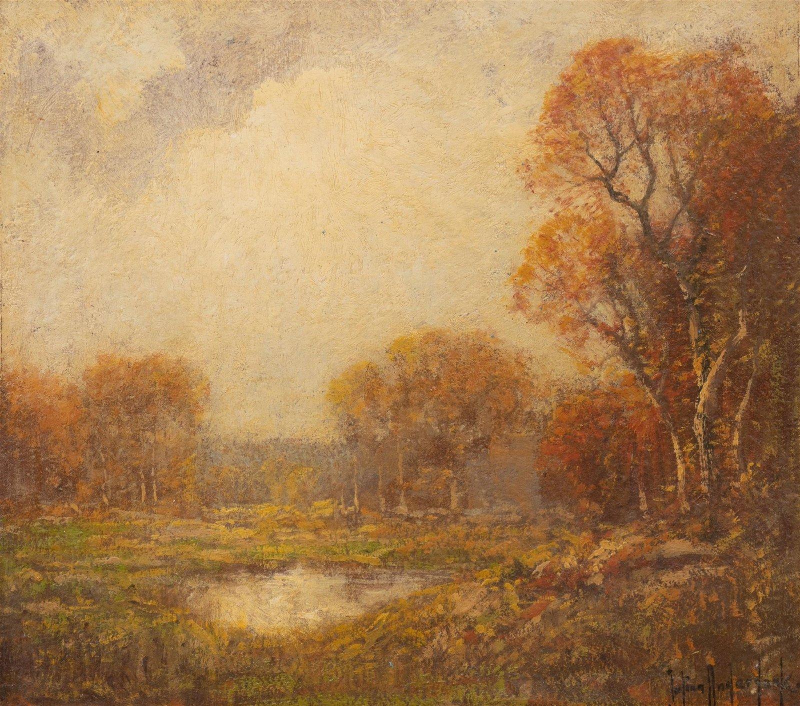 Julian Onderdonk(1882-1922), Autumn Landscape, oil