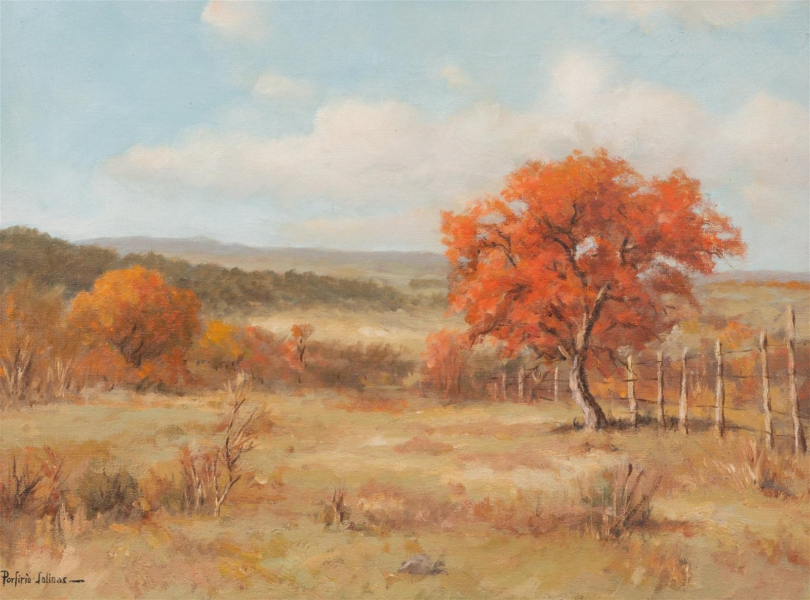 Porfirio Salinas (1910-1973), Autumn, oil on canvas