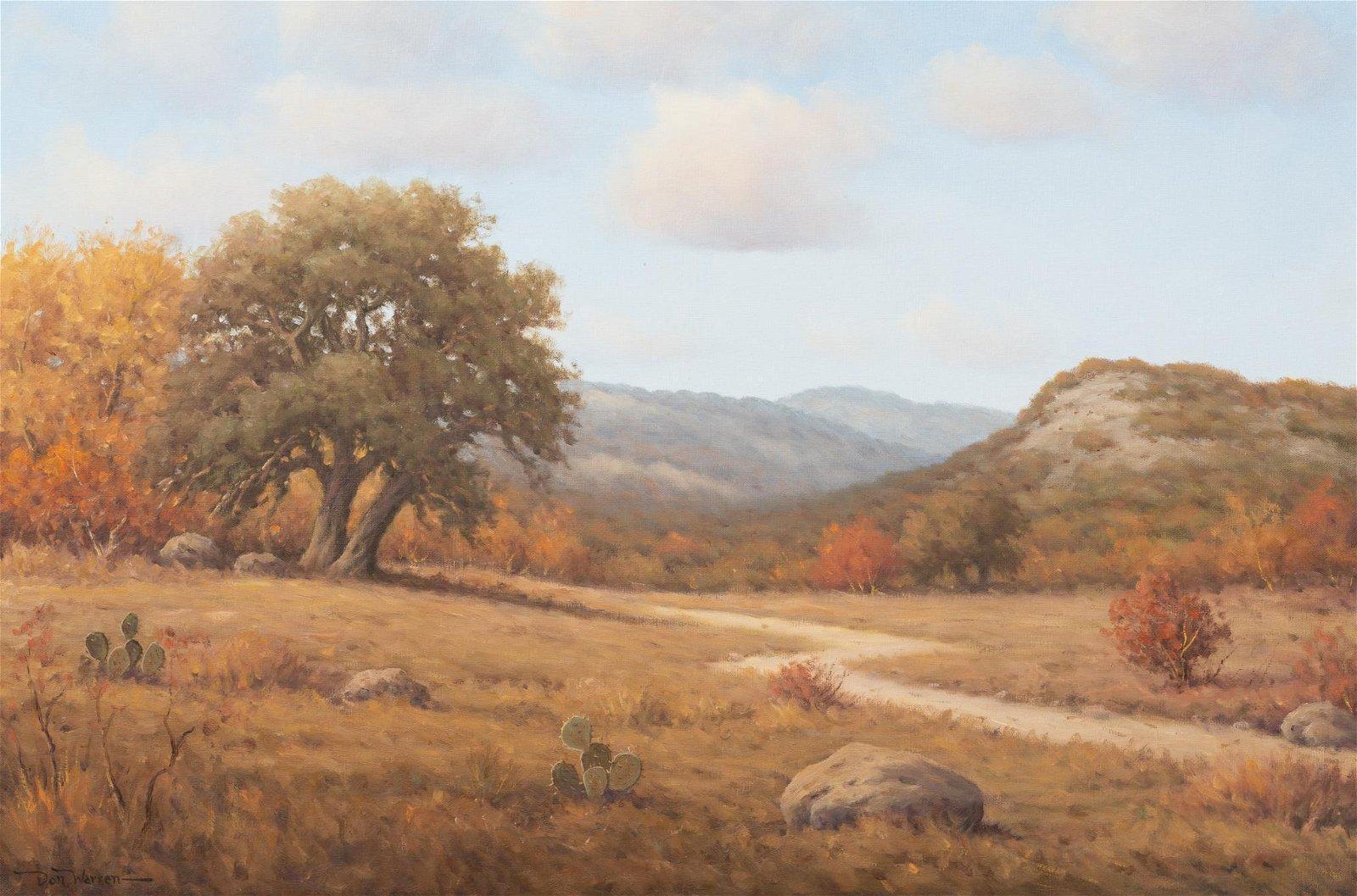Don Warren (1935-2006), Autumn Hill Country Landscape,