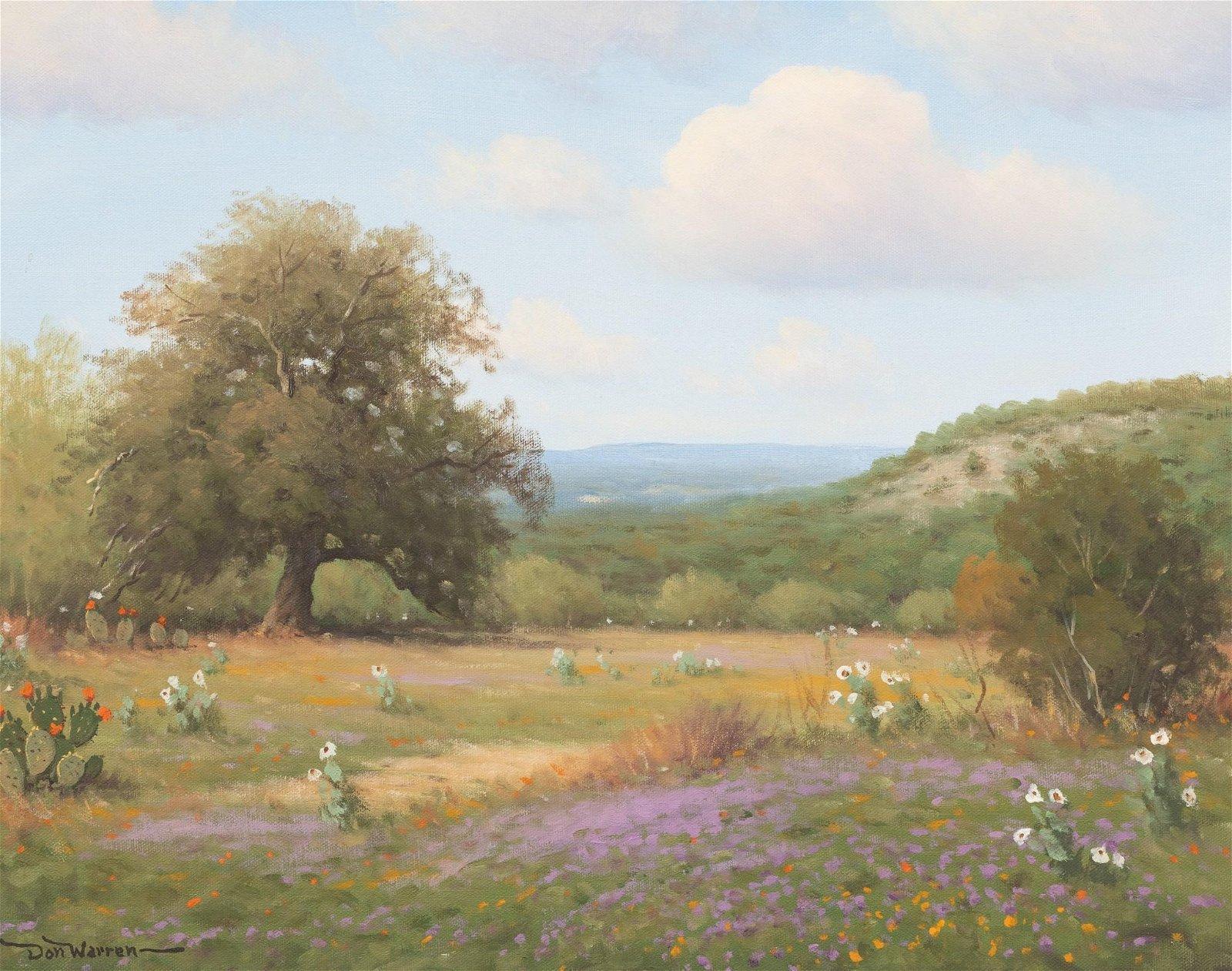 Don Warren (1935-2006), Verbena, oil on canvas, 16 x
