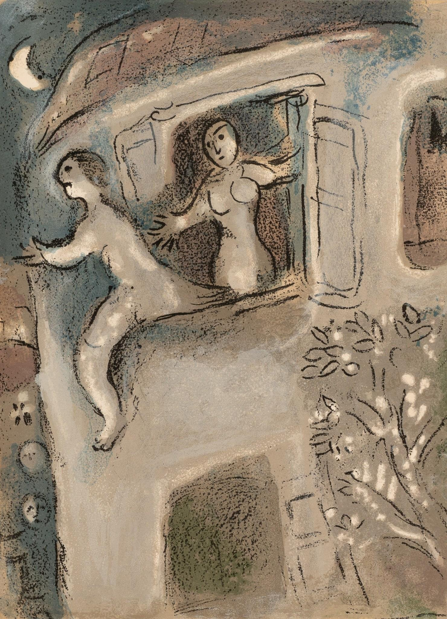 """Marc Chagall (1887-1985), """"David Saved By Michal"""","""
