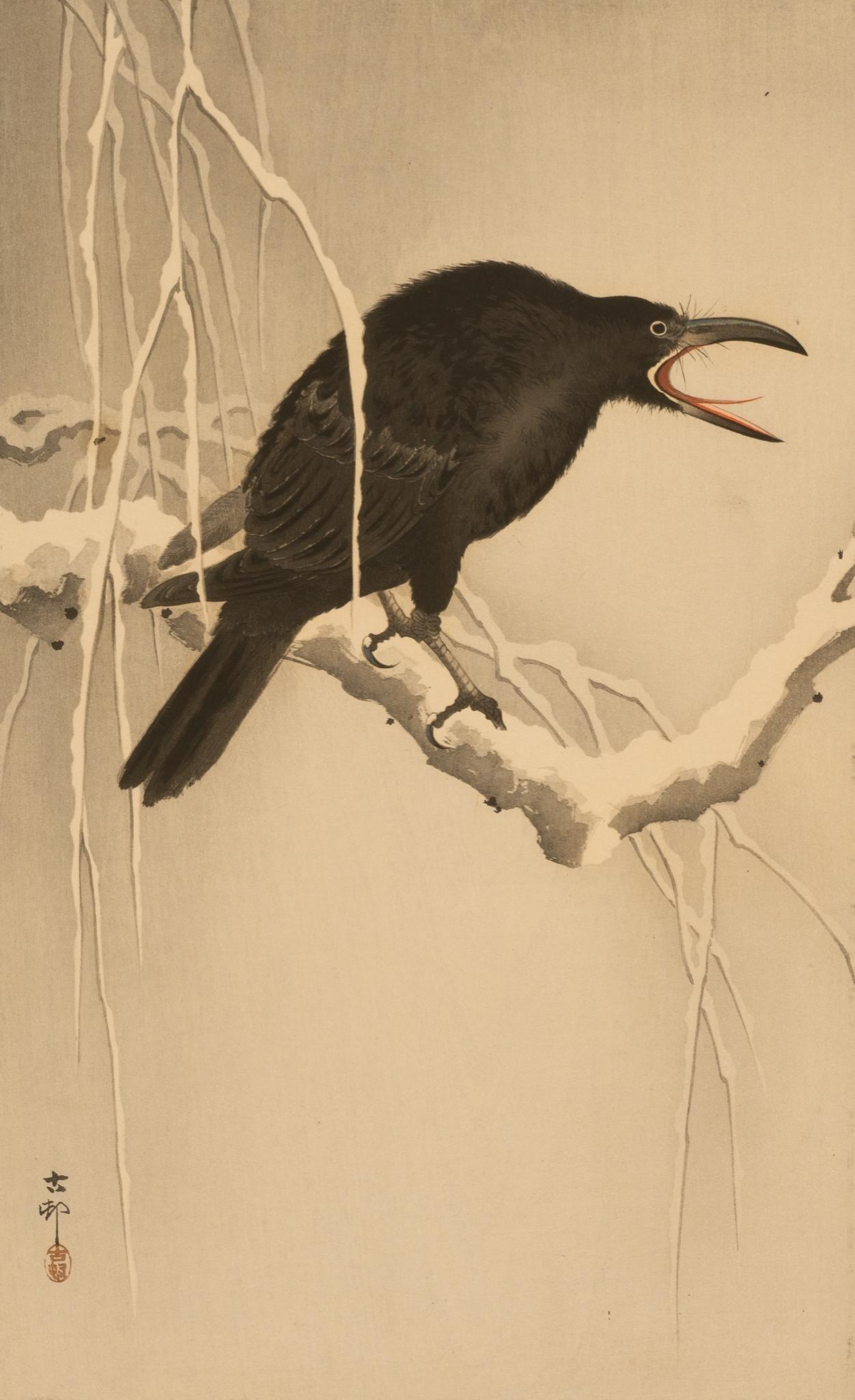 "Ohara Koson (1877-1945), ""Crow on a Snowy Branch"", c."