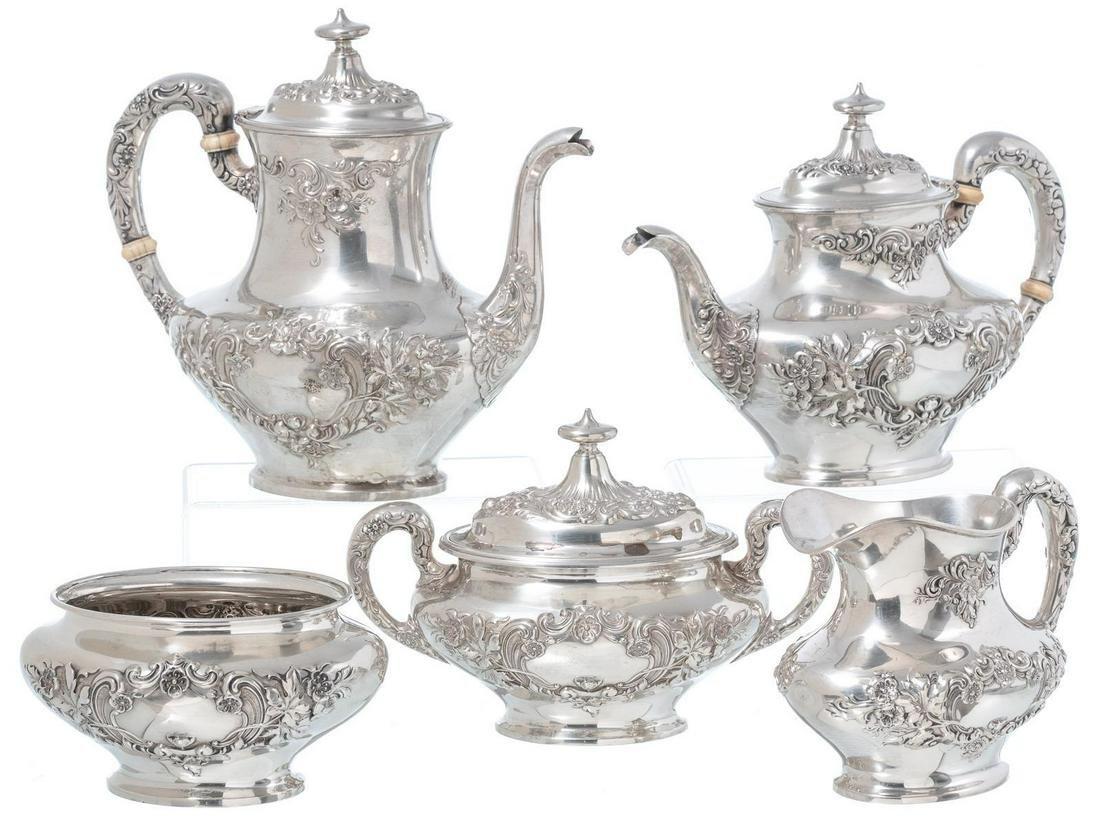 Gorham 5 Piece Sterling Silver Tea Set