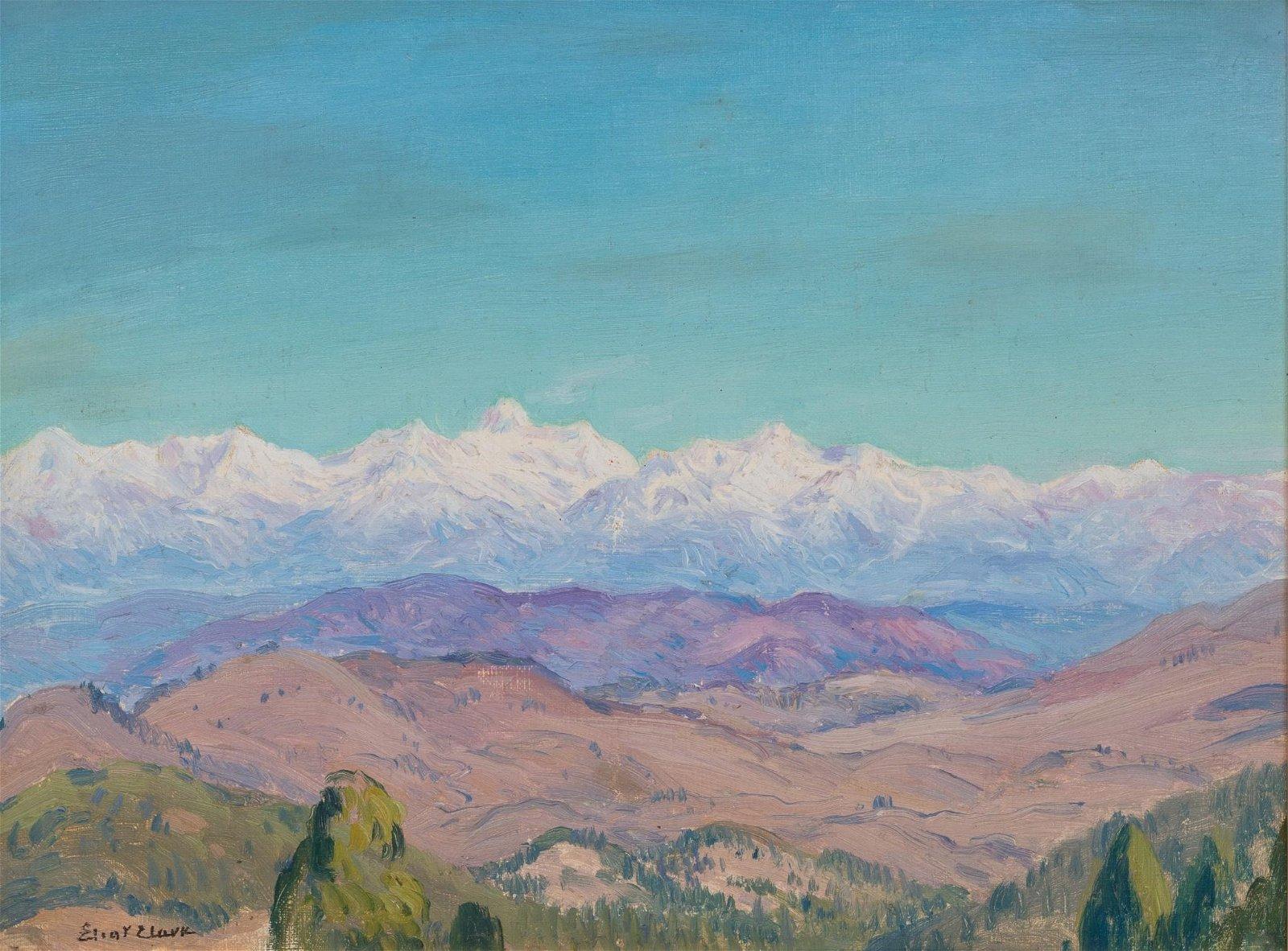 """Eliot Clark (1883-1980), """"Arizona Mountains"""", oil on"""