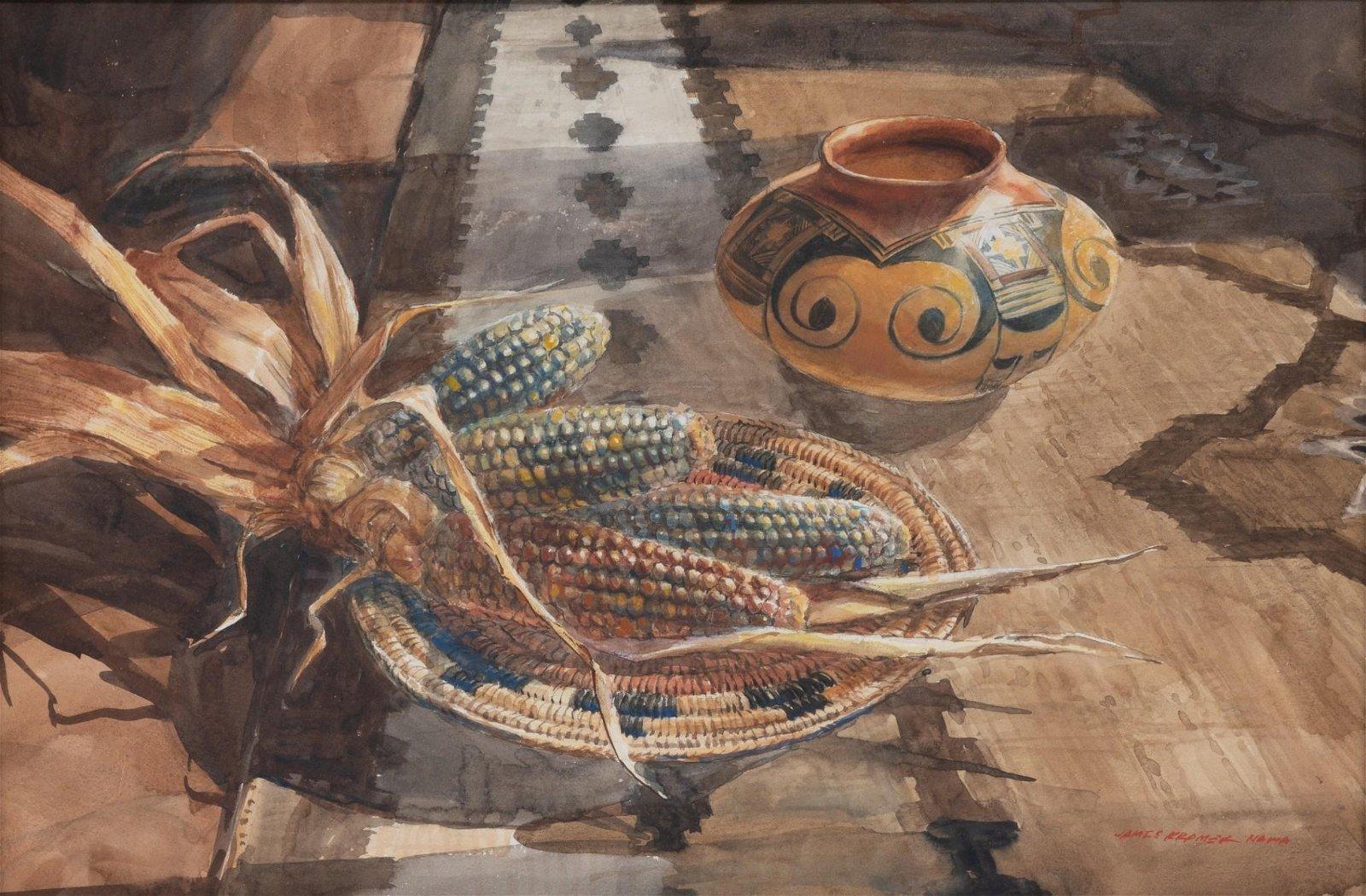 "James Kramer (b. 1927), ""Indian Corn and Wedding"