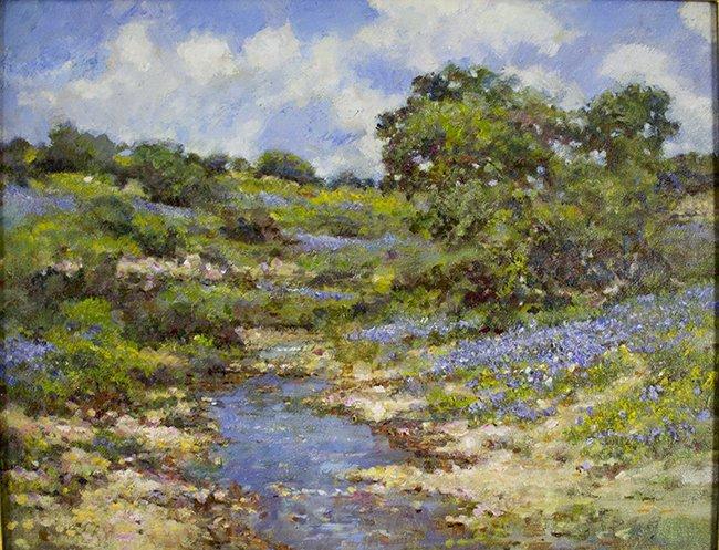 Robert Hamman, Bluebonnet Creek, oil on - 2