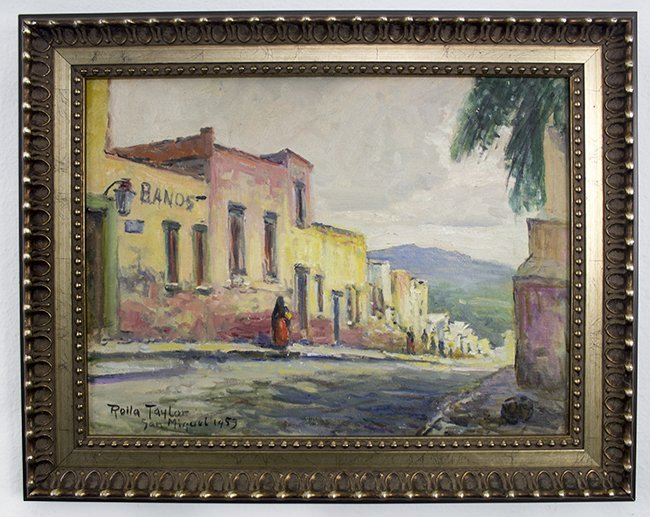 Rolla Taylor,  San Miguel , 1953, oil on canvas