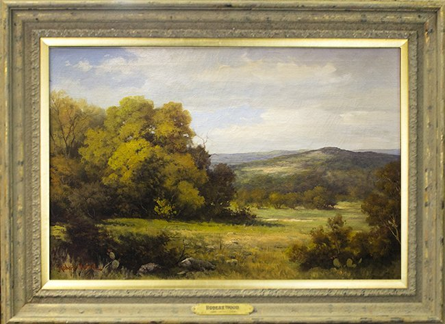 Robert Wood, Hill country landscape, oil on canvas