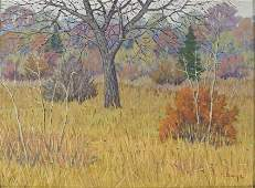 Fred Darge Landscape oil on panel 12 x 16 in canvas