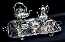 Reed  Barton Sterling Silver Francis I tea set 5 pc