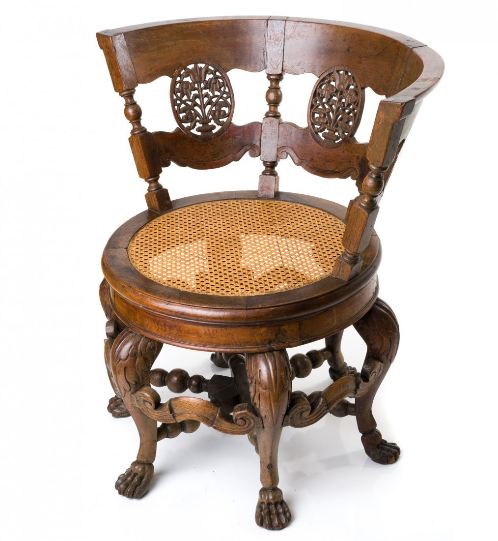 Dutch Colonial Burgermeister Chair Nov 15 2015 Vogt Galleries