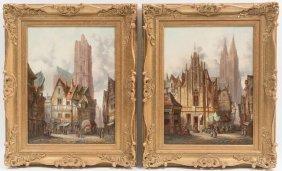 Pair Of Oil Paintings By Alfred Bentley (1879-1923)