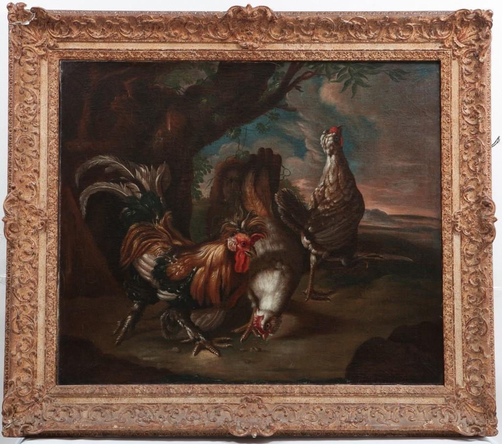 POULTRY IN A LANDSCAPE, OIL