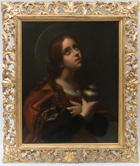 19th Century Italian Oil Painting After Carlo Dolci