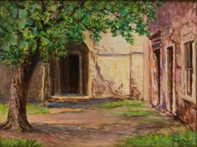 "Rolla Taylor (1872-1970), ""veramendi Palace Patio"", Oil"