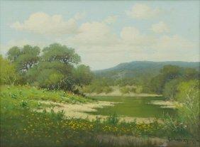 """G Harvey (b. 1933), """"central Texas"""", 1965, Oil"""