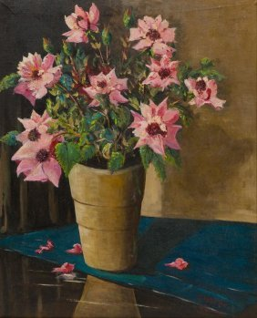 Carl Hoppe (1897-1981), Still Life With Flowers, 1962