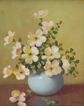 A.d. Greer (1904-1998), Dogwood Blossoms, Oil