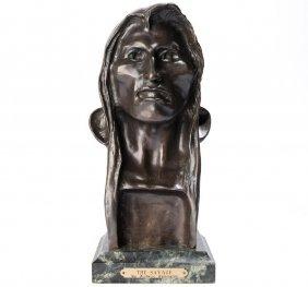 "Frederick Remington (recast), ""the Savage"", Bronze"