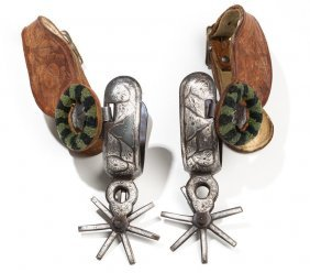 Circa 1940s Mexican Chihuahua Pattern Spurs