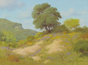 Joe G. Russell (1926-2008), Hill Country Spring, Oil