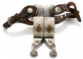 """Frank Bradley Spurs, C. 1970s, Well-marked """"by F.b."""""""