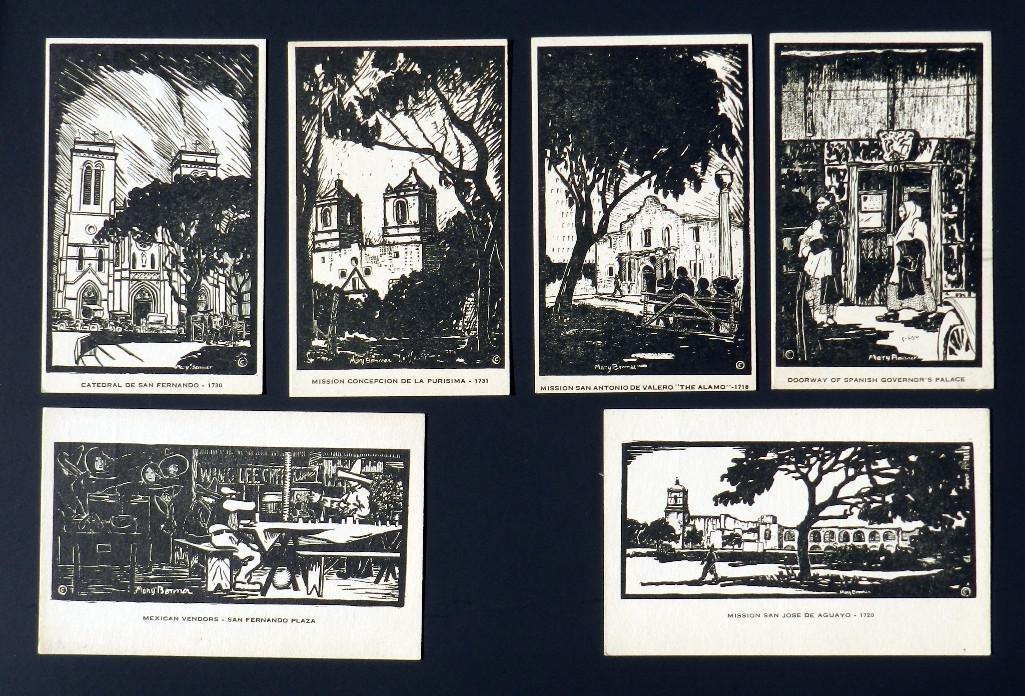 Mary Bonner (1887-1935), Full set of 6 woodblock prints