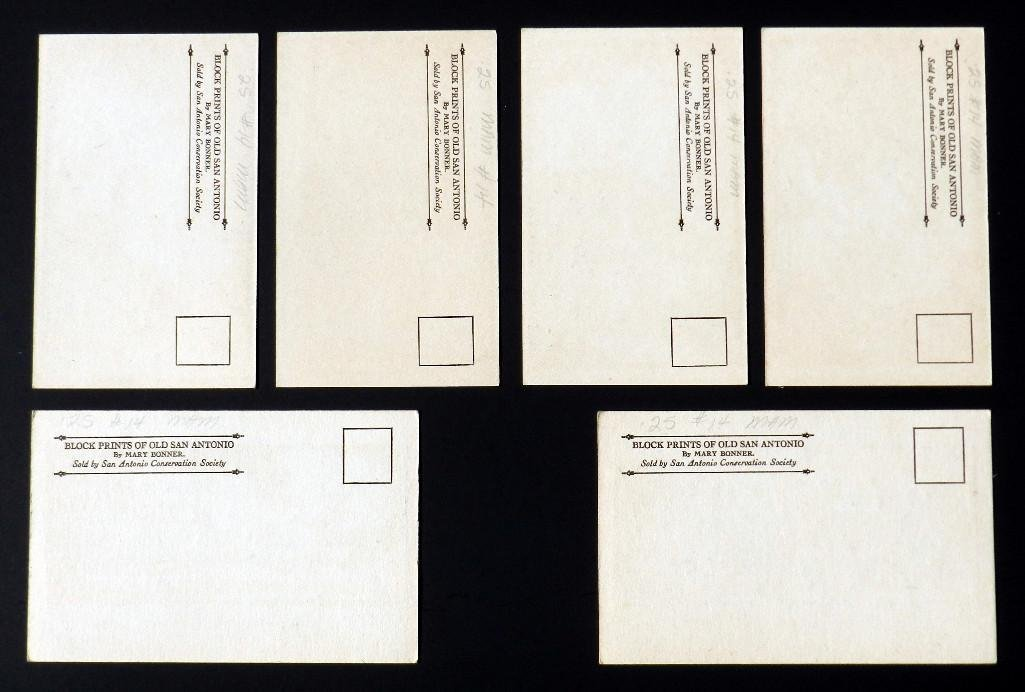 Mary Bonner (1887-1935), Full set of 6 woodblock prints - 2