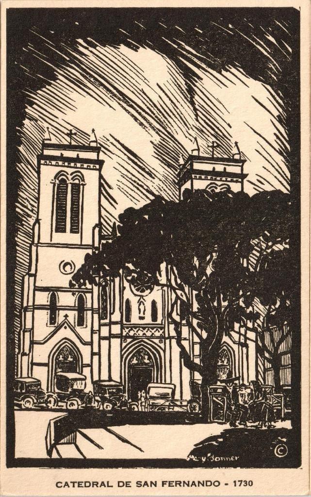 Mary Bonner (1887-1935), Full set of 6 woodblock prints - 4